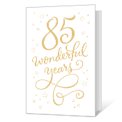 85th Birthday Printable Milestone Birthday Cards