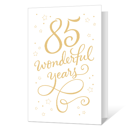 85th Birthday Printable Milestone Cards