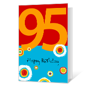95th Birthday Printable Milestone Birthday Cards