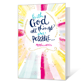 All Things Are Possible Printable Congratulations Cards