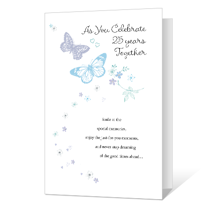 25 Years Together Printable Anniversary Cards