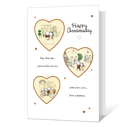The Best of Love Printable Anniversary Cards