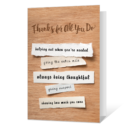 More Thank You Know Printable Thank You Cards