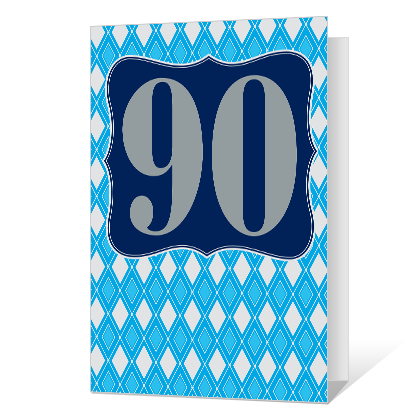 90th Birthday Printable Milestone Birthday Cards