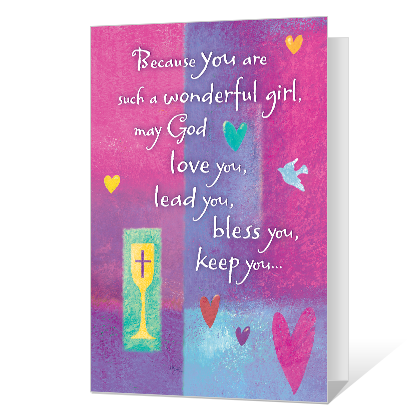 Blessings for A Special Girl Printable First Communion Cards