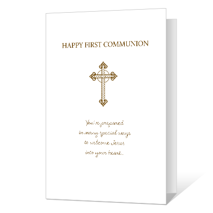 graphic regarding First Communion Cards Printable identified as Printable Playing cards Blue Mountain