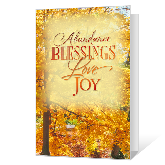 Blessings at Thanksgiving Printable Thanksgiving Cards