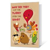 Silly Thanksgiving Printable Thanksgiving Cards