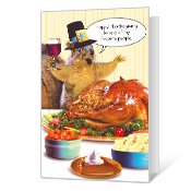 Nutty Thanksgiving Printable Thanksgiving Cards