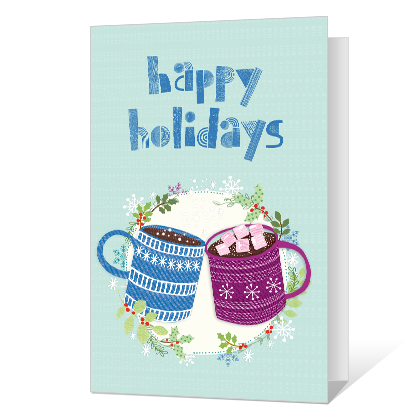 Holiday Warmth Printable Season's Greetings Cards