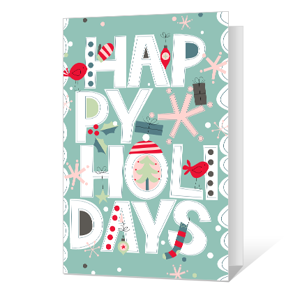 Happy Holidays Printable Season's Greetings Cards