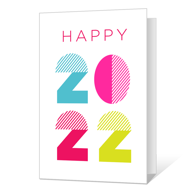 Happy 2020 Printable New Year's Day Cards