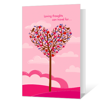 Loving Thoughts Printable Valentine's Day Cards