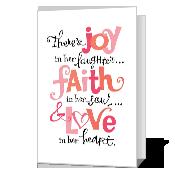 Joy, Faith and Love Printable Mother's Day Cards