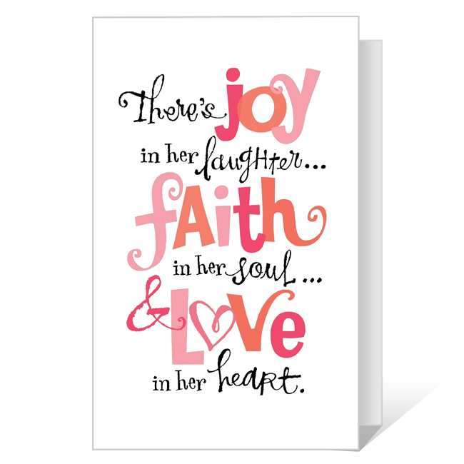 Joy, Faith and Love Printable Mother's Day Cards