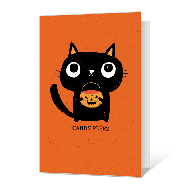 Candy Pleez! Printable Halloween Cards
