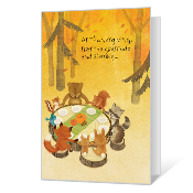 First, the Blessing Printable Thanksgiving Cards