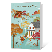 Happiness and Love Thanksgiving Cards