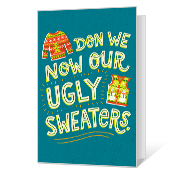 Ugly Sweater Printable Christmas Cards