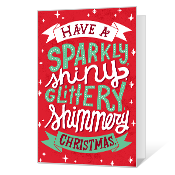 So Much Twinkly! Printable Christmas Cards