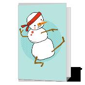Pa-rum-pa-pum-pow Printable Christmas Cards