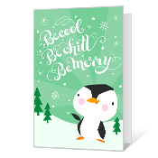 Be Cool Be Merry Printable Season's Greetings Cards