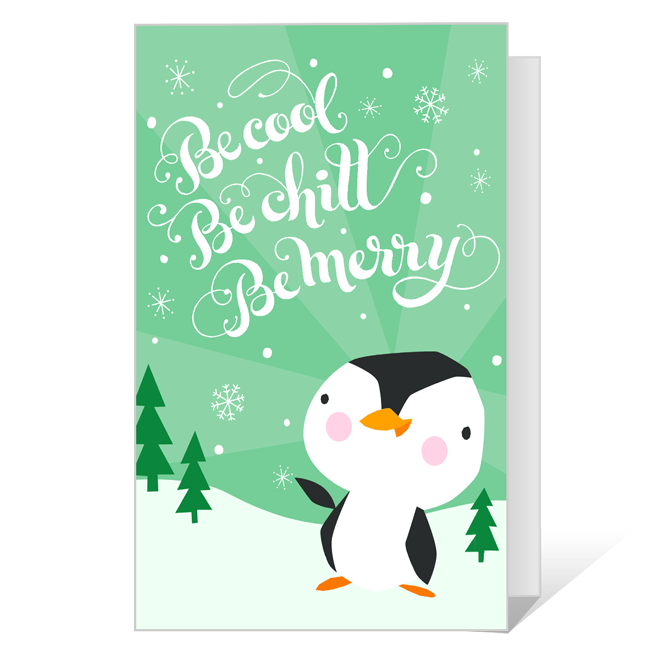 Be Cool Be Merry<br>Printable Season's Greetings Cards
