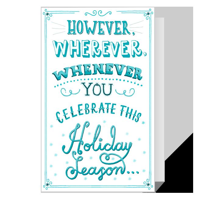 Full of Joy<br>Printable Season's Greetings Cards