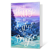 Joyful and Bright Wishes Printable Christmas Cards