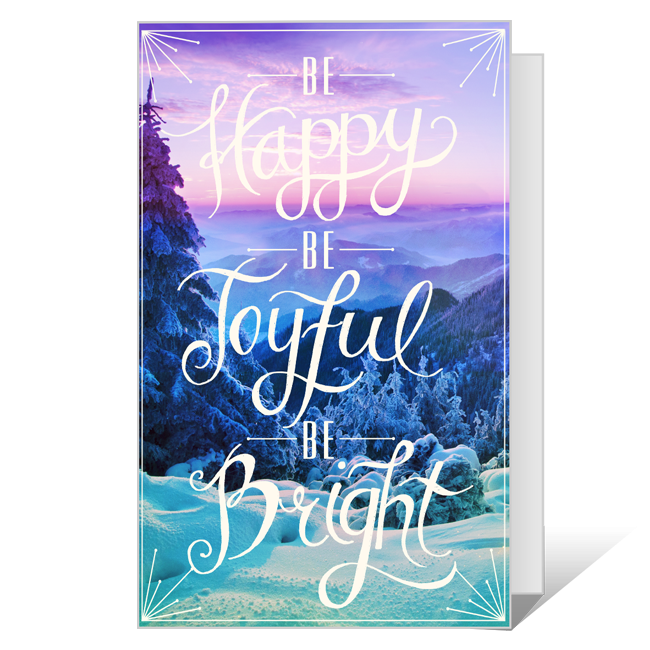 Joyful and Bright Wishes<br>Printable Christmas Cards