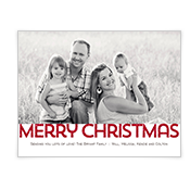 Merry Christmas Add-a-Photo Christmas Cards