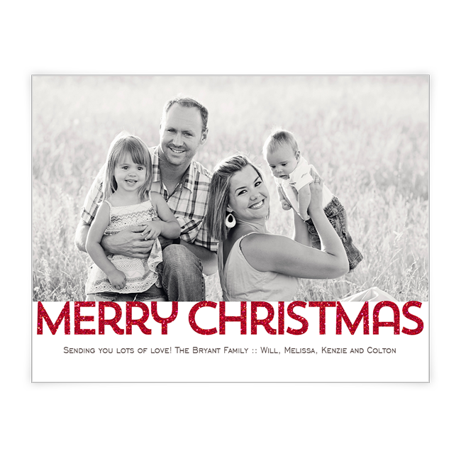 Merry Christmas<br>Add-a-Photo Christmas Cards