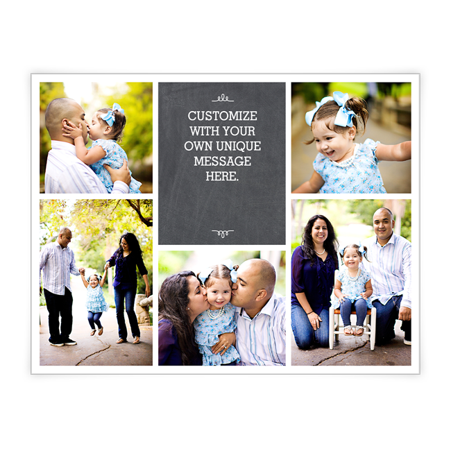 Chalkboard Greetings<br>Add-a-Photo Christmas Cards