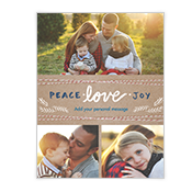 Peace Love and Joy Add-a-Photo Christmas Cards