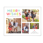 Colorful Wishes Add-a-Photo Christmas Cards
