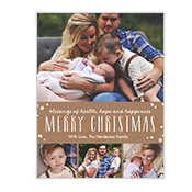 Blessings of Hope and Happiness Add-a-Photo Christmas Cards