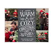 Warm & Cozy Add-a-Photo Christmas Cards