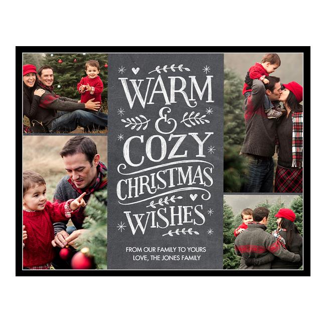 Warm & Cozy<br>Add-a-Photo Christmas Cards
