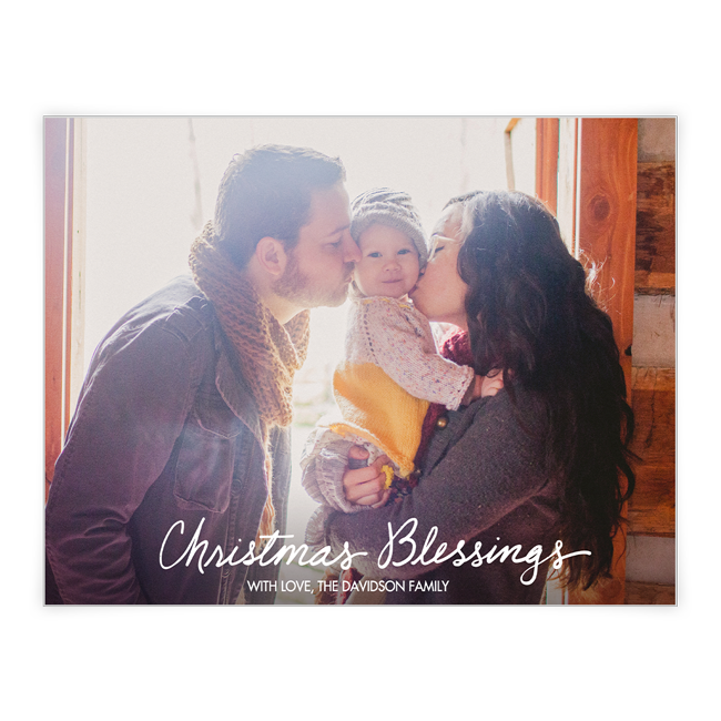 Christmas Blessings<br>Add-a-Photo Christmas Cards