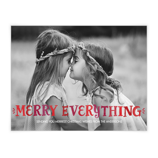 Merry Everything<br>Add-a-Photo Christmas Cards