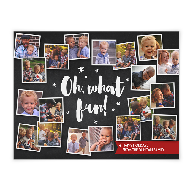Oh, What Fun!<br>Add-a-Photo Christmas Cards