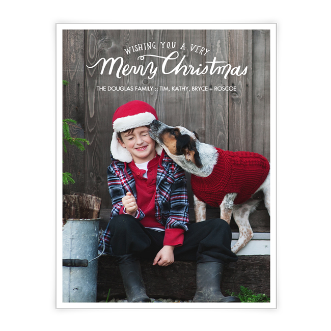 A Very Merry Christmas<br>Add-a-Photo Christmas Cards