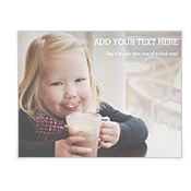 Custom Greeting Add-a-Photo Christmas Cards