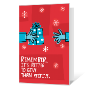 Give & Take Printable Christmas Cards