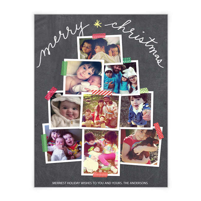 Merry Christmas Tree<br>Add-a-Photo Christmas Cards