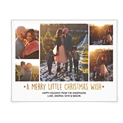A Merry Little Christmas Wish Add-a-Photo Christmas Cards