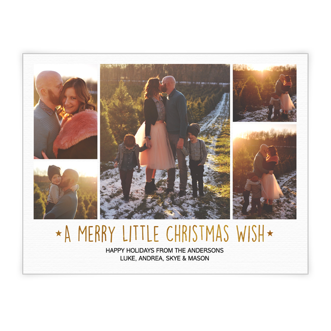 A Merry Little Christmas Wish<br>Add-a-Photo Christmas Cards