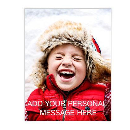 Custom Greeting<br>Add-a-Photo Christmas Cards