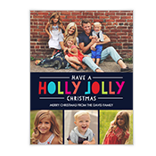 Holly Jolly Wishes Add-a-Photo Christmas Cards