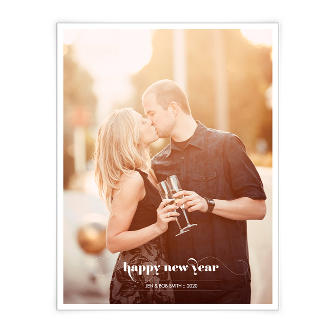 Happy New Year<br>Add-a-Photo New Year's Day Cards
